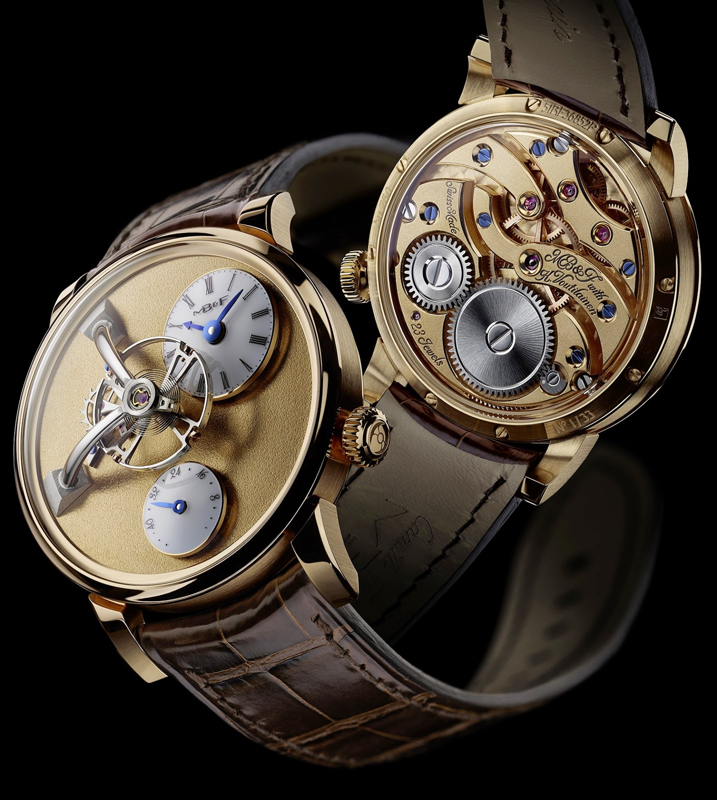 Montre MB&F Legacy Machine 101 Frost or jaune