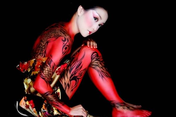 batik body painting design ideas
