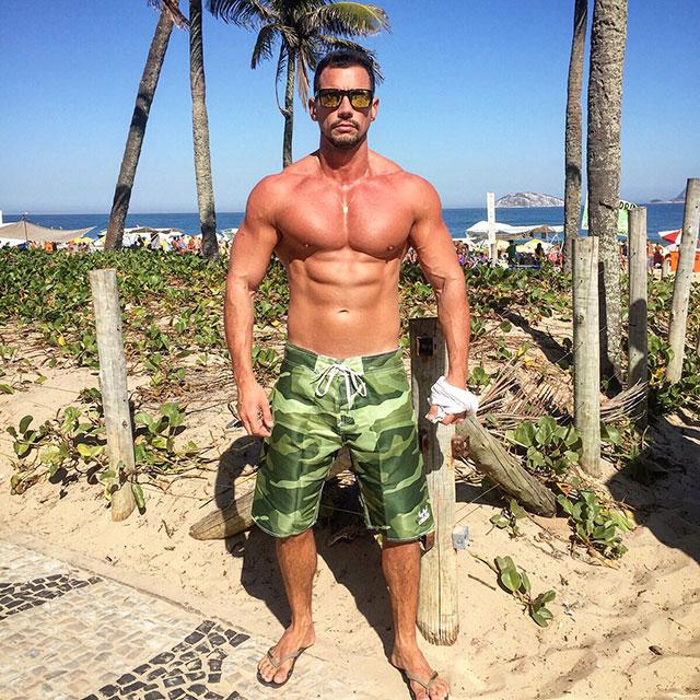 Personal trainer Breno Maia curte dia de praia em Ipanema, no Rio. Foto: Arquivo pessoal
