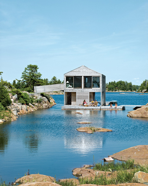 Floating Cottage Lake Huron Canada