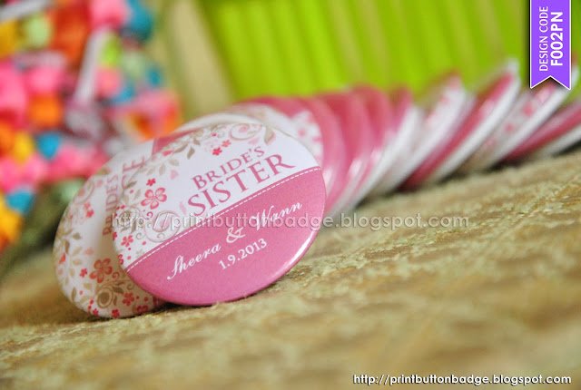 Wedding Button Badge Printing by Pixie Studio