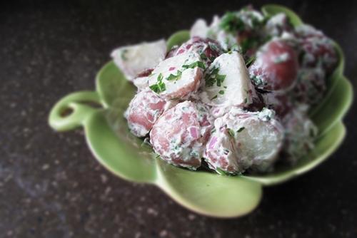 Recipes: Warm Potato Salad with Goat Cheese