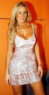 Rocío Marengo con lindo vestido corto
