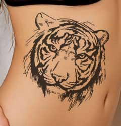 Tribal Tatoos Tiger on body