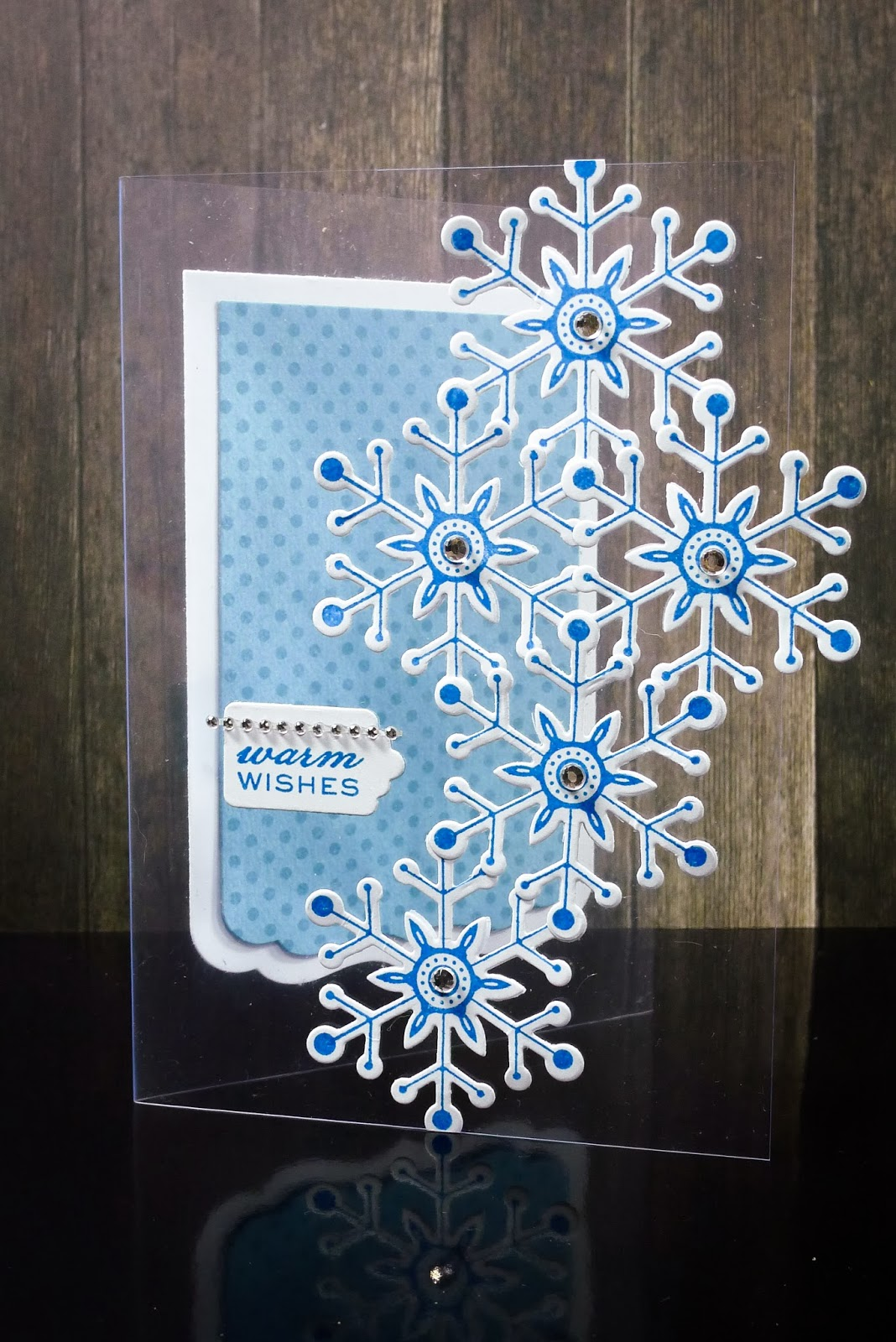 Crafting Ideas From Sizzix UK Snowflakes On Acetate Card
