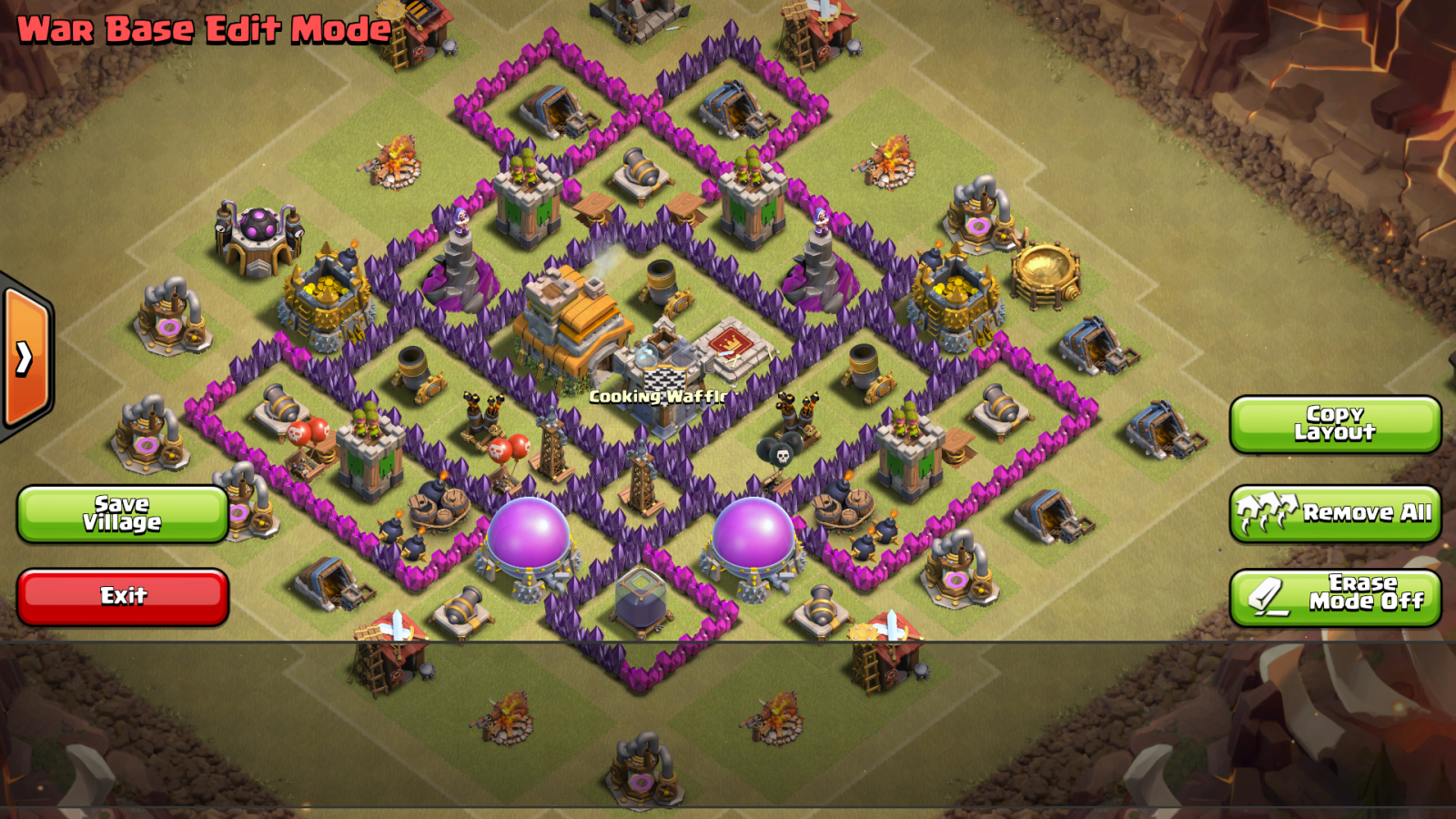 Clash of clans th7 war base th7 trophy base coc best town hall 7