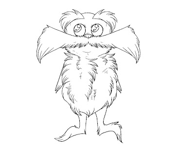 #7 The Lorax Coloring Page