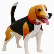 Beagle Dog Papercraft