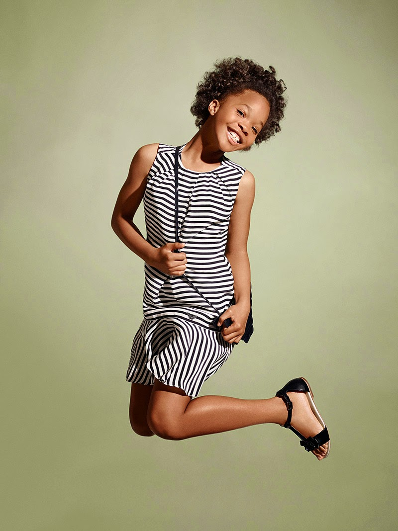 Armani Junior Spring/Summer 2015 Campaign featuring Quvenzhane Wallis