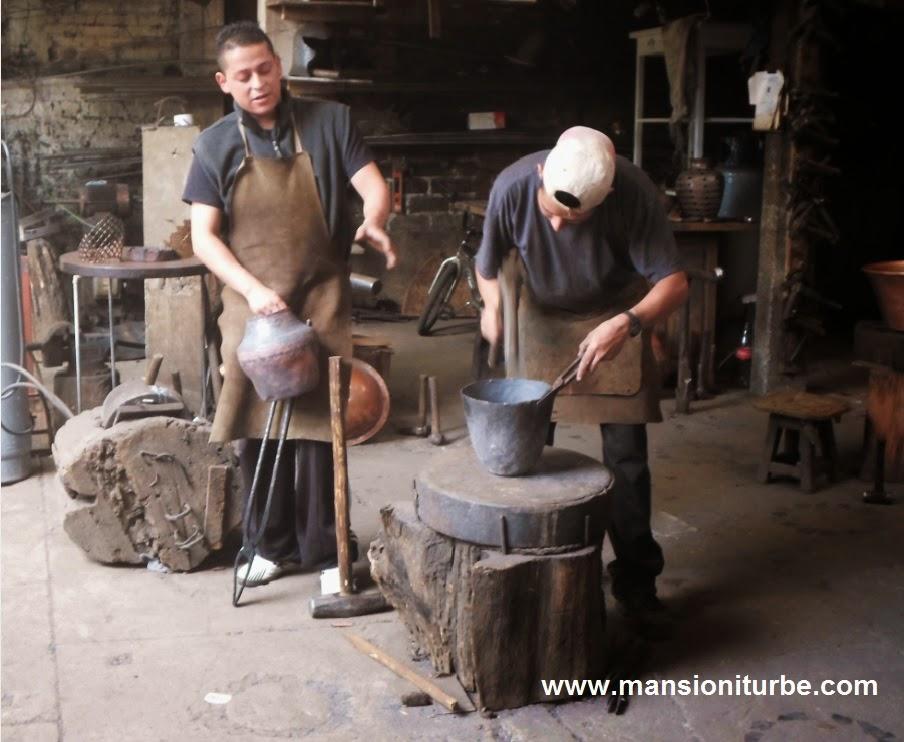 Artisans from Santa Clara del Cobre Michoacan