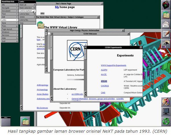 halaman web pertama di dunia
