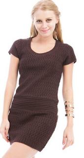 brown sweater dress for women