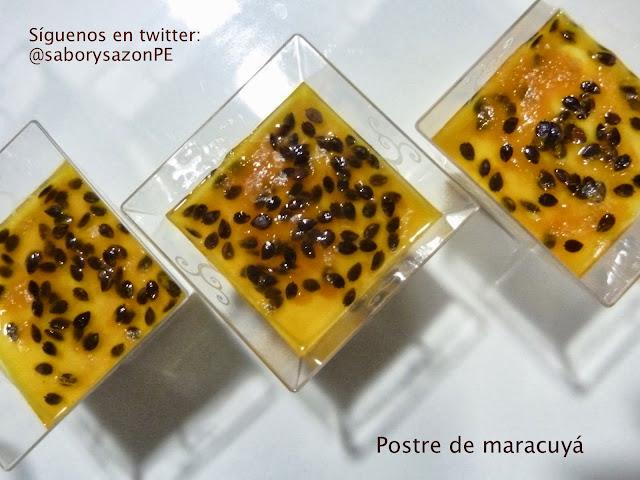 Postre de MARACUYA - Receta - http://elpostreperuano.blogspot.com - Passion fruit dessert