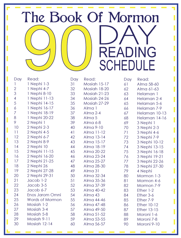 Someone In Mind: 30 Day and 90 Day Book Of Mormon Reading Schedules