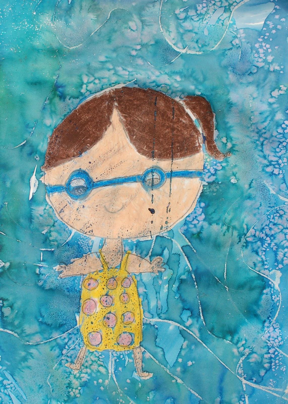 Sunnyside Art House Underwater Portraits In The Style Of David Hockney