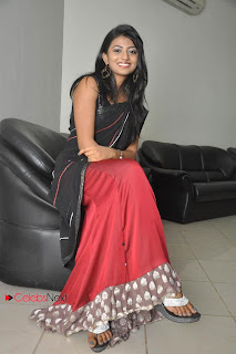 Haasika Picture Gallery in Black Saree at Prema Katha Chitram Audio Release Function  0034.jpg
