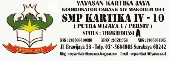SMP KARTIKA IV - 10 ( PUTRA WIJAYA 1/PERSIT) SURABAYA