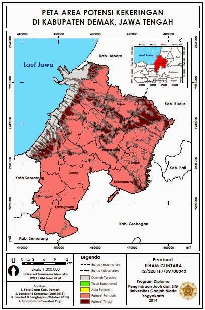 Peta Area Potensi Kekeringan di Kabupaten Demak www.guntara.com