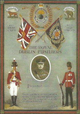 Certificate commemorating the disbanding of The Dublin Fusiliers in 1922