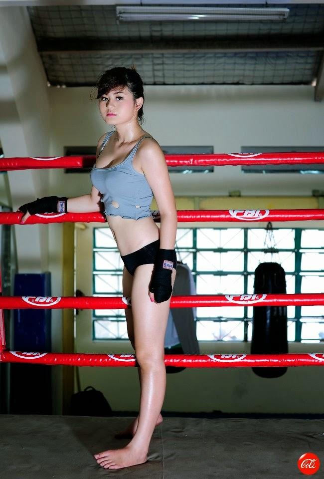 Hotgirl Châu Dương sexy với trang phục boxing 14
