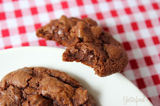 Chocolate Buttermilk Cookies  from Yesterfood