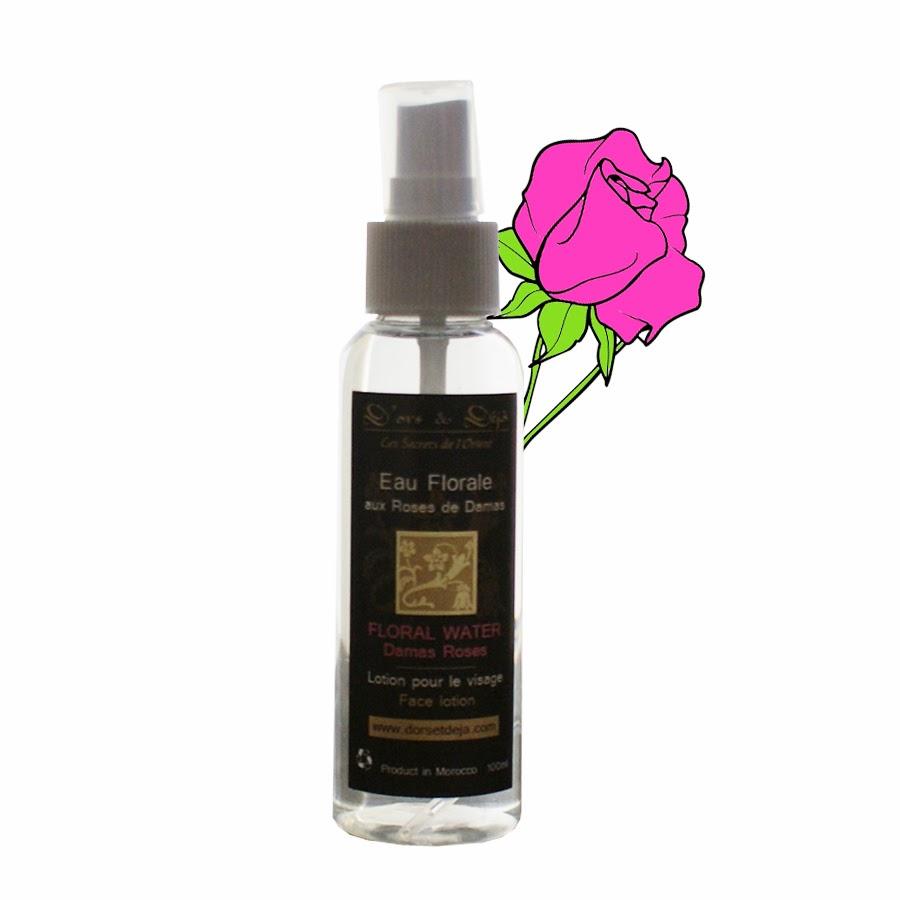l'eau florale à la rose de damas