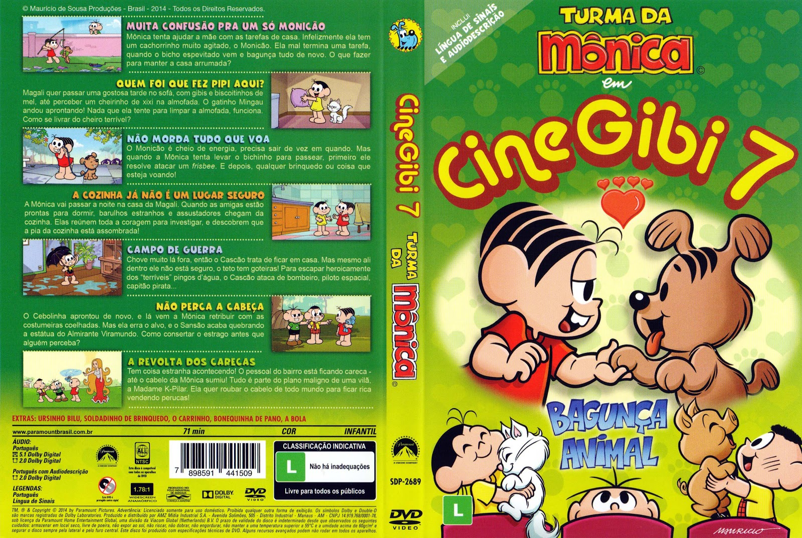 Capa DVD Cine Gibi 7 Turma Da Mônica