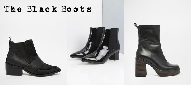 Black ankle boots wishlist for aw15
