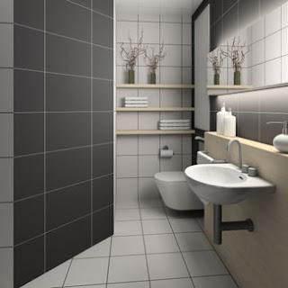 decoração banheiro em azulejo baço