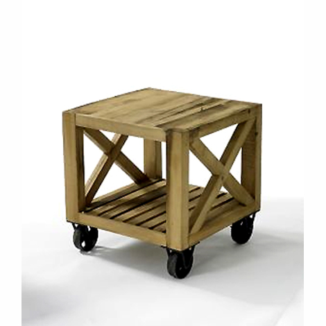 wood crate side table (reclaimed wood) via Hudson Goods as seen on linenandlavender.net