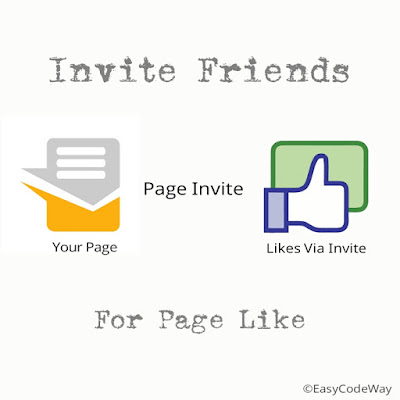 invite friends to like Facebook page