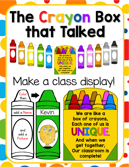 This activity includes a crayon box printable that says