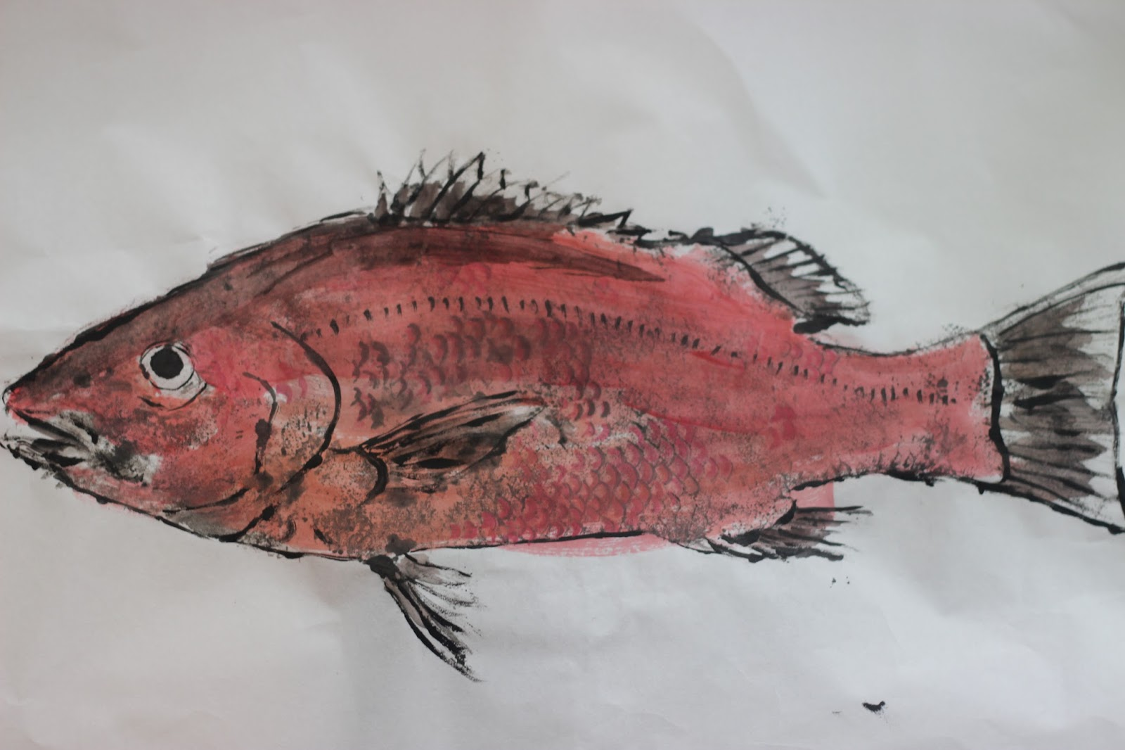 faithful with the little: Making Gyotaku (Japanese fish prints) with ...