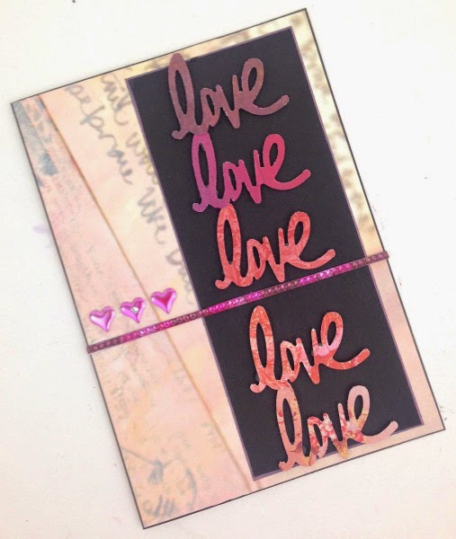 handmade valentines day card lisa fulmer