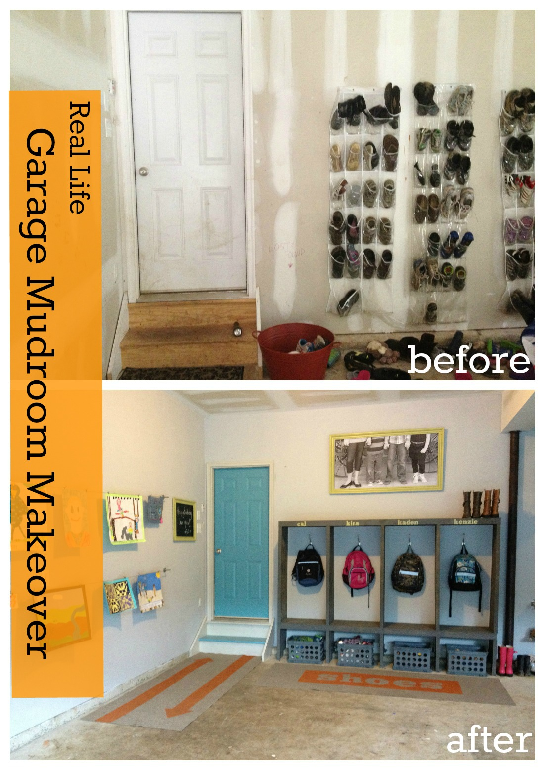 Garage mudroom makeover for the real family for Garage mudroom