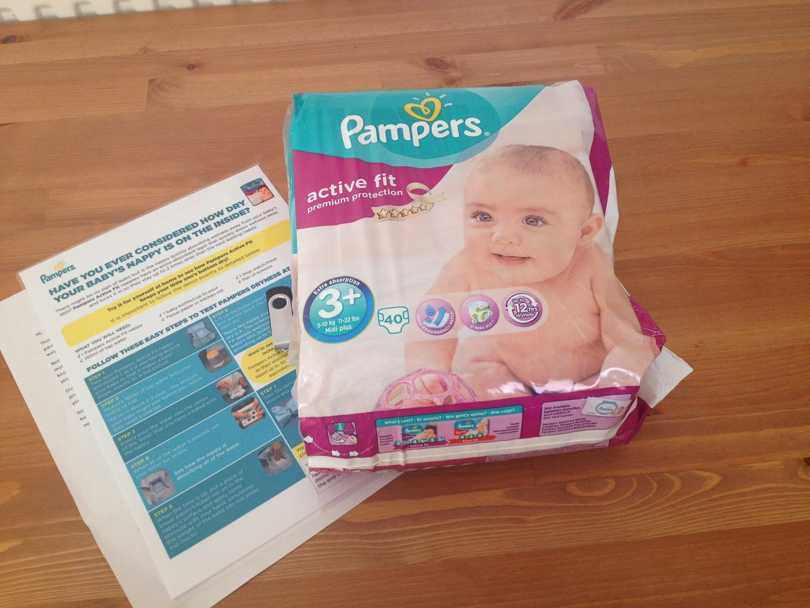 Pampers Active Fit #BritainsDriestNappy Challenge