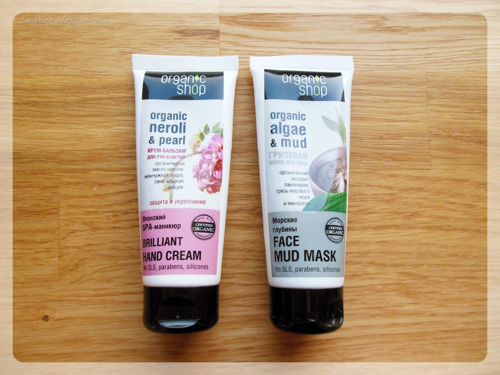 Organic Shop – Brilliant Hand Cream i Face Mud Mask [recenzja]