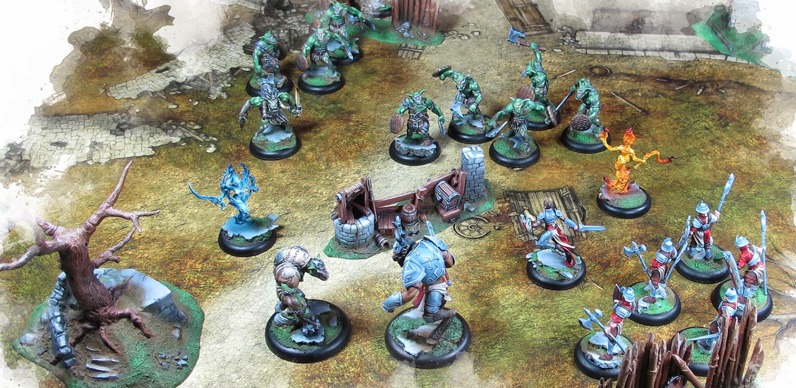 Drakerys 32mm Skirmish Game interview game in play