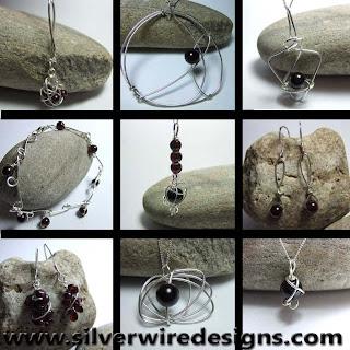 Handmade Garnet Jewellery