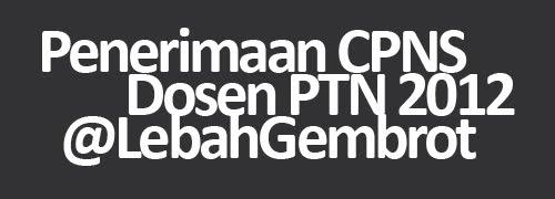 Formasi CPNS Dosen PTN dan Pegawai UNDIP 2012