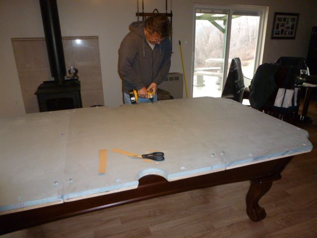 Mike And Lisas World Chapter Our New Pool TableAnd A Fun - Pool table slate screws
