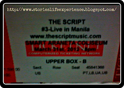 The Script Live in Manila, The Script