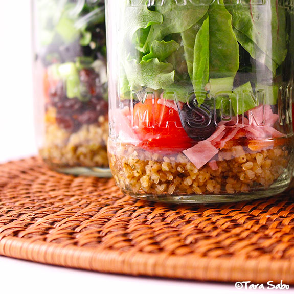 mason jar, salad in a jar, food prep, whole grains