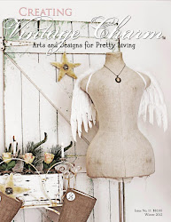 Featured on the cover of Creating Vintage Charm Winter 2012