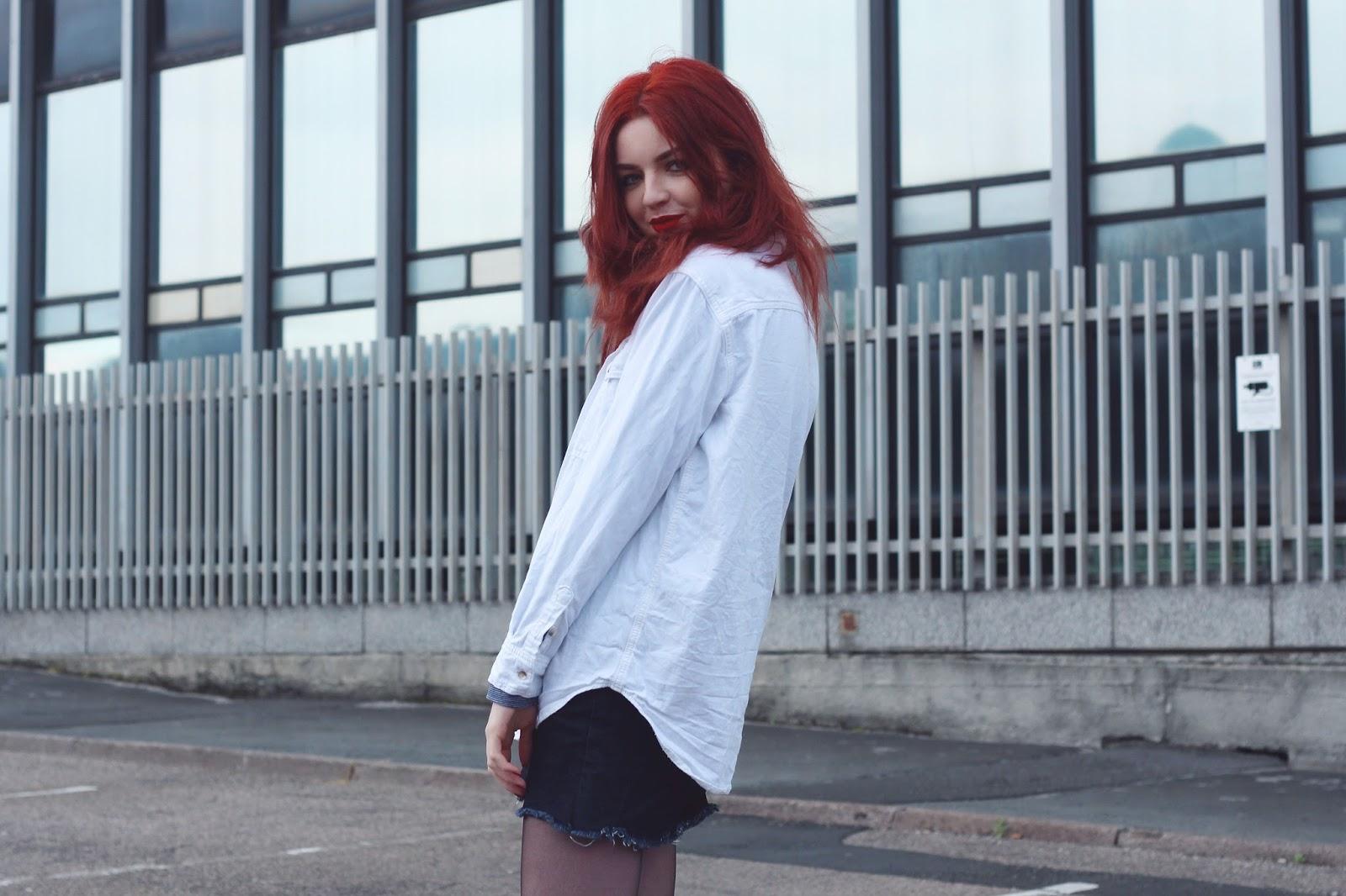 white overshirt