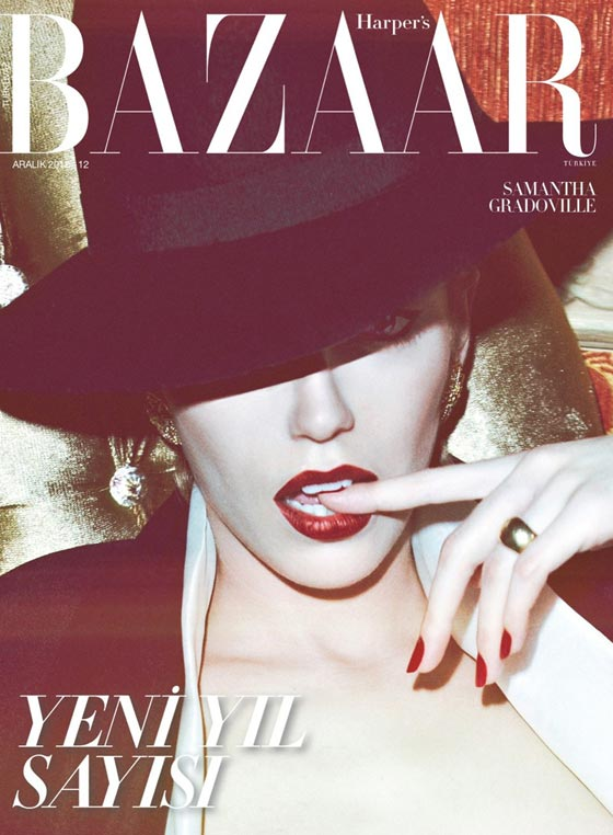 harper's bazaar turkey december 2012 cover