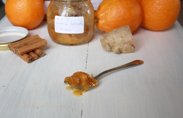 marmellata di arance amara con zenzero e cannella