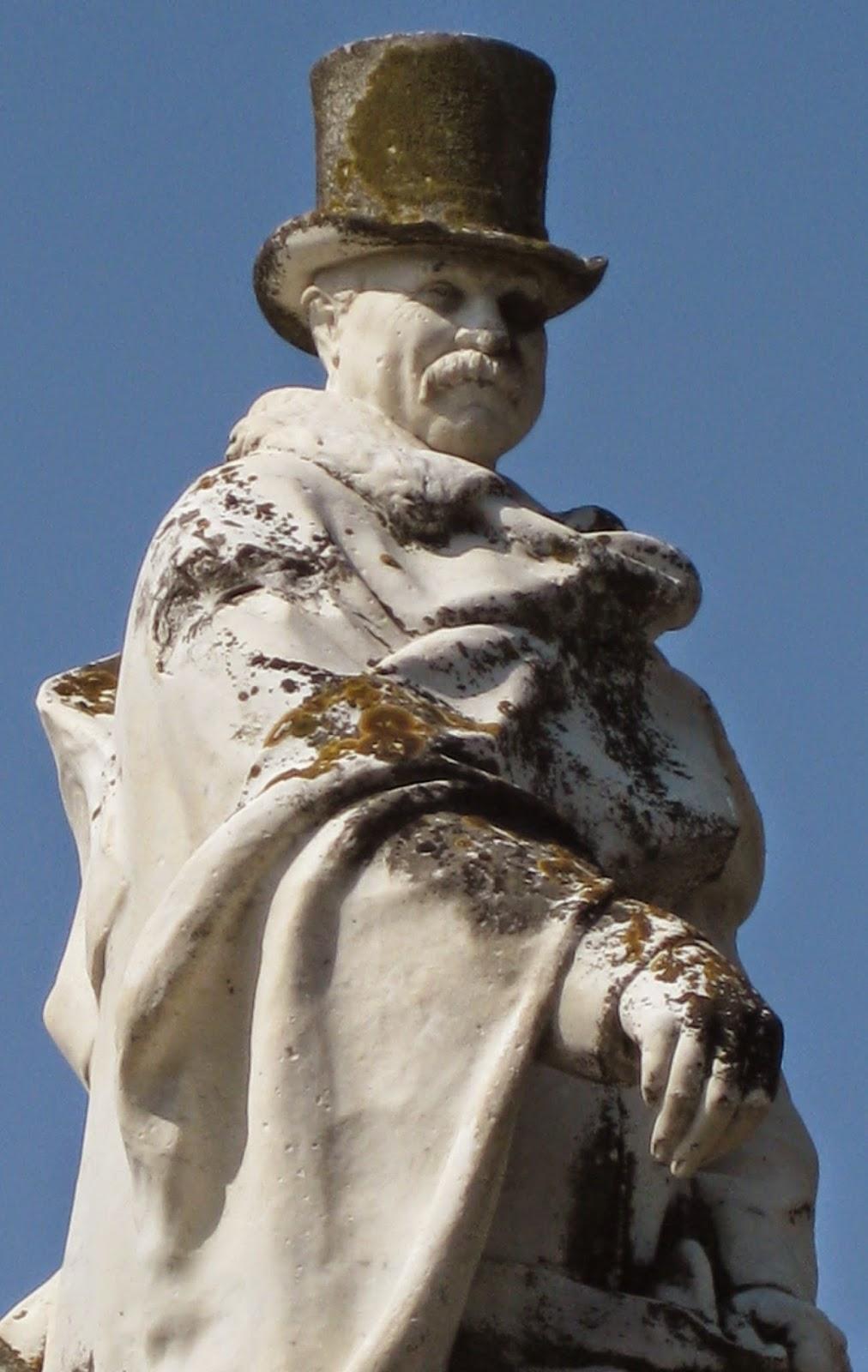 Statue of Carlo Fabbriccotti, 'Carlaz', by Lazzerini
