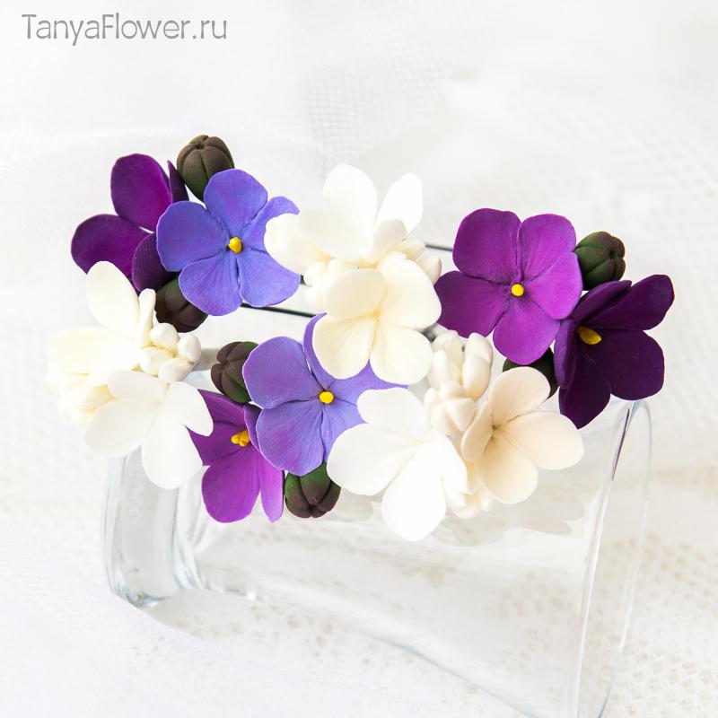 яркие цветочные шпильки для волос