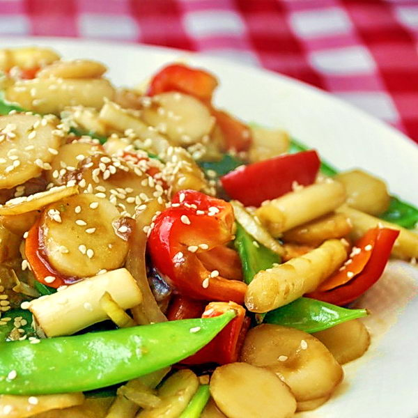 Stir Fried Vegetables in Blackbean Ginger Sauce